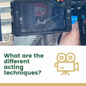 What are the different acting techniques